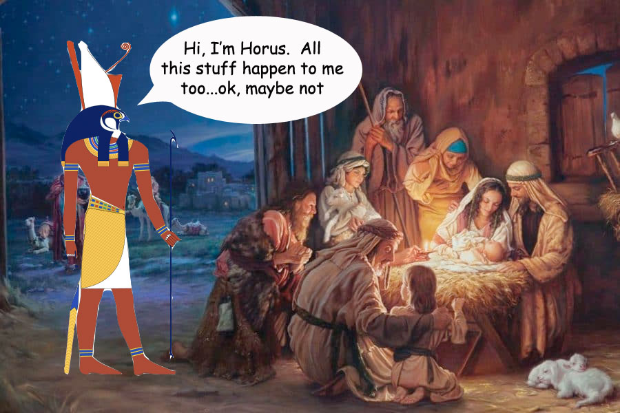 Myths About birth Jesus and horus